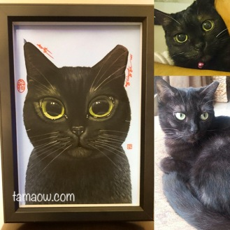 Sooty and her portrait