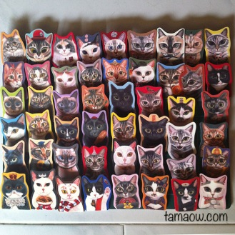 Handmade Brooches of 50 Meow Project